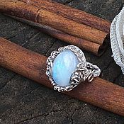 """Украшения ручной работы. Ярмарка Мастеров - ручная работа Кольцо """"Moon"""" Серебро, лунный камень. Handmade."""