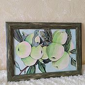 Картины и панно handmade. Livemaster - original item Apples. drawing with watercolor pencils.. Handmade.