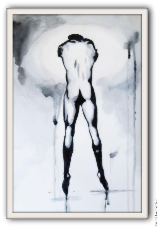 Ню ручной работы. Ярмарка Мастеров - ручная работа. Купить картина 1 Балет- любовь моя. Handmade. Чёрно-белый