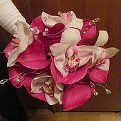 Свадебный салон ручной работы. Ярмарка Мастеров - ручная работа букет невесты из орхидей и кал. Handmade.
