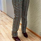 Одежда handmade. Livemaster - original item Pants classic shape - plaid gray. Handmade.