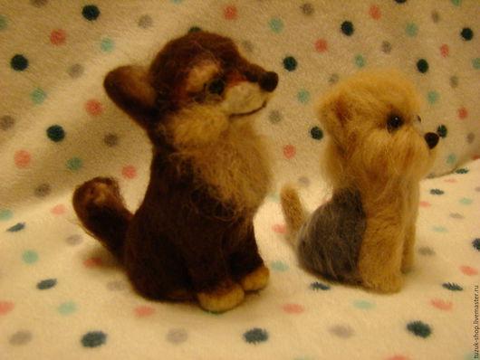 Игрушки животные, ручной работы. Ярмарка Мастеров - ручная работа. Купить собачки Каштанка и Йорик. Handmade. Комбинированный, игрушка в подарок
