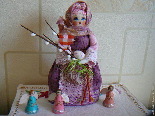 Народные куклы ручной работы. Ярмарка Мастеров - ручная работа. Купить Пасхальная кукла .Дуняша. Handmade. Розовый, русский стиль