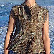 Одежда ручной работы. Ярмарка Мастеров - ручная работа Жилет валяный Подружка Викинга. Handmade.