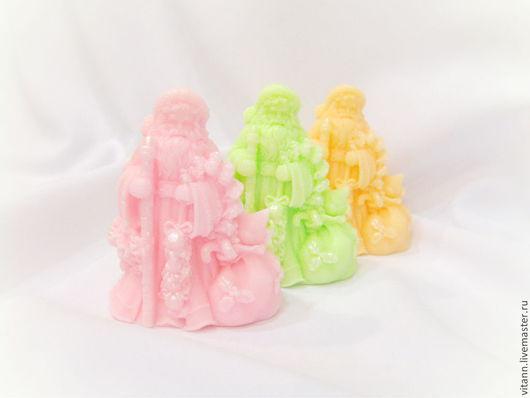 """Мыло ручной работы. Ярмарка Мастеров - ручная работа. Купить """"Дед Мороз"""" сувенирное мыло. Handmade. Мыло сувенирное, голубой"""