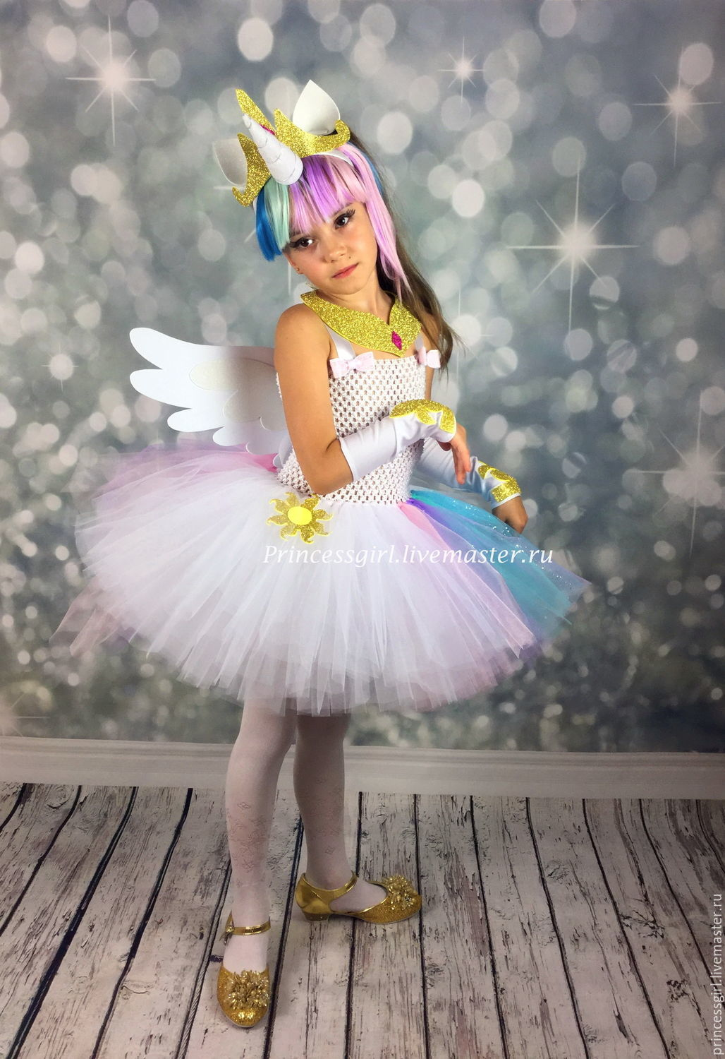 Costume Princess pony Celestia, Carnival costumes for children, Moscow,  Фото №1
