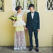 Одежда ручной работы. Ярмарка Мастеров - ручная работа Платье с полупрозрачным верхом. Handmade.