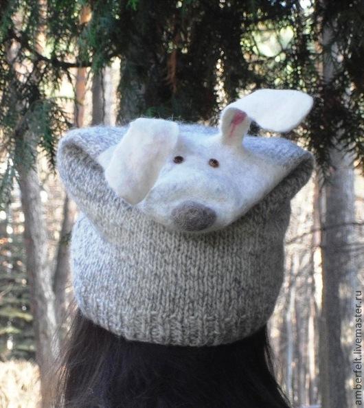 """Шапки ручной работы. Ярмарка Мастеров - ручная работа. Купить Зверо-Шапка """"Братец Кролик"""". Handmade. Однотонный, Вязаные шапки"""