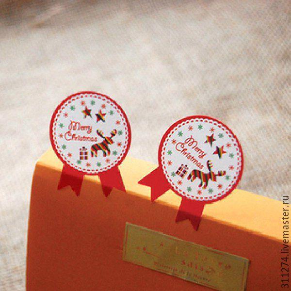 новогодние наклейки на коробку