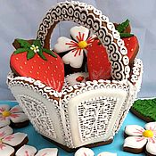 Сувениры и подарки handmade. Livemaster - original item Gingerbread basket.Gingerbread for March 8, Easter gingerbread. Handmade.