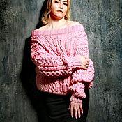 Одежда handmade. Livemaster - original item Women`s Ruban oversize powdery sweater. Handmade.
