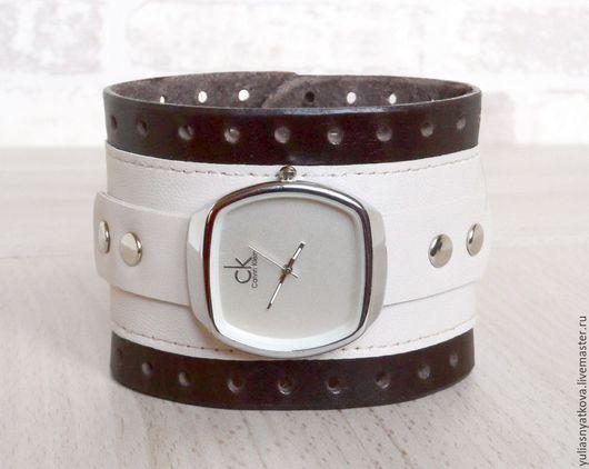 Часы ручной работы. Ярмарка Мастеров - ручная работа. Купить Часы СК на сливочно-кофейном браслете.. Handmade. Часы наручные