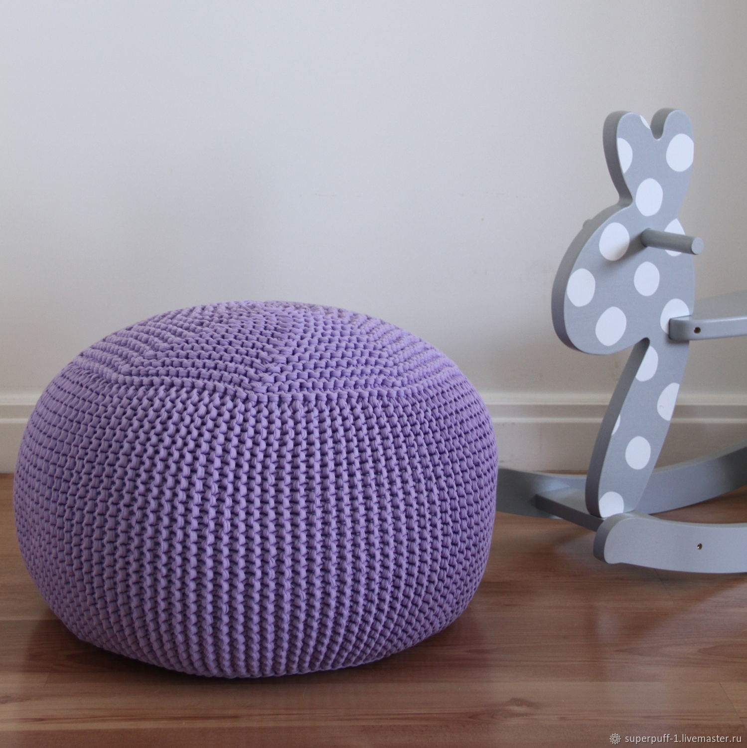 Poufs and  Pouf knitted frameless Violet Superpuff, Ottomans, Moscow,  Фото №1