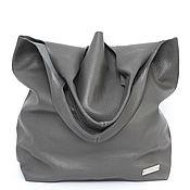 Сумки и аксессуары handmade. Livemaster - original item Gray leather Handbag Bag large bag shopping Bag shopper hobo Mike. Handmade.