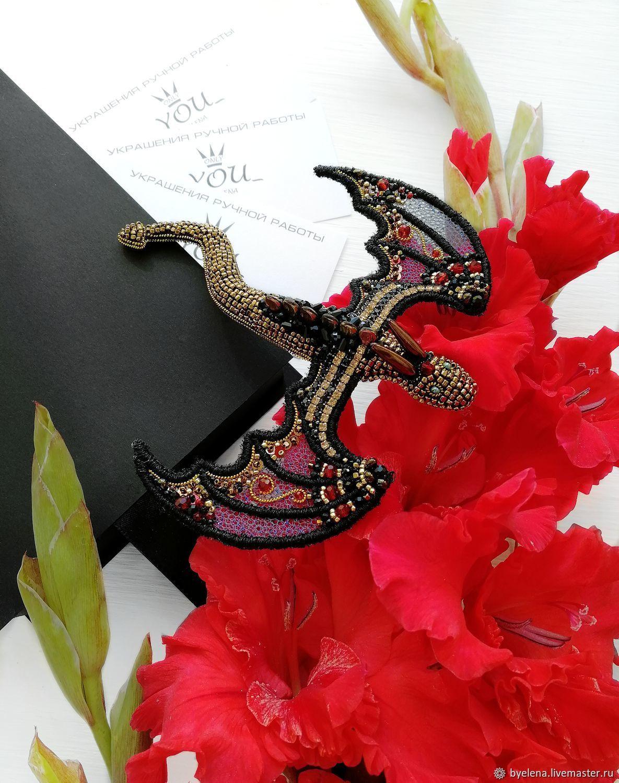 Fire dragon brooch. Gift girl, Brooches, Novosibirsk,  Фото №1