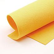 Материалы для творчества ручной работы. Ярмарка Мастеров - ручная работа Корейский мягкий фетр 1,5 мм, ST-50(люминесцентно-оранжево-желтый. Handmade.