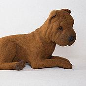 Куклы и игрушки ручной работы. Ярмарка Мастеров - ручная работа Собака породы Шар-пей. Handmade.