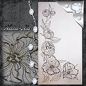 Материалы для творчества handmade. Livemaster - original item Design for machine embroidery. Tenderness. Handmade.