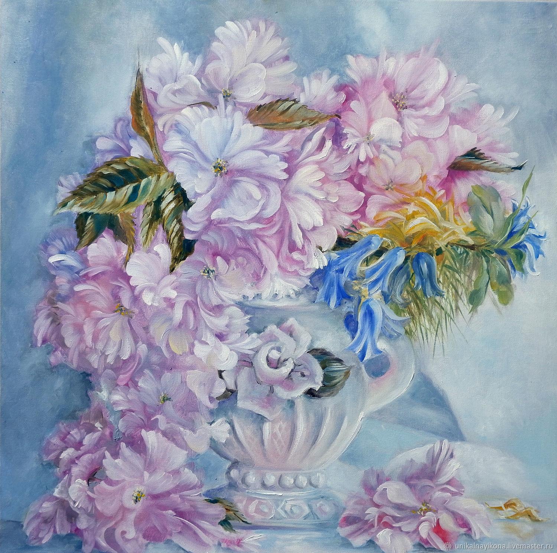 Нежные пионы в фарфоровой вазе, Картины, Кумертау,  Фото №1
