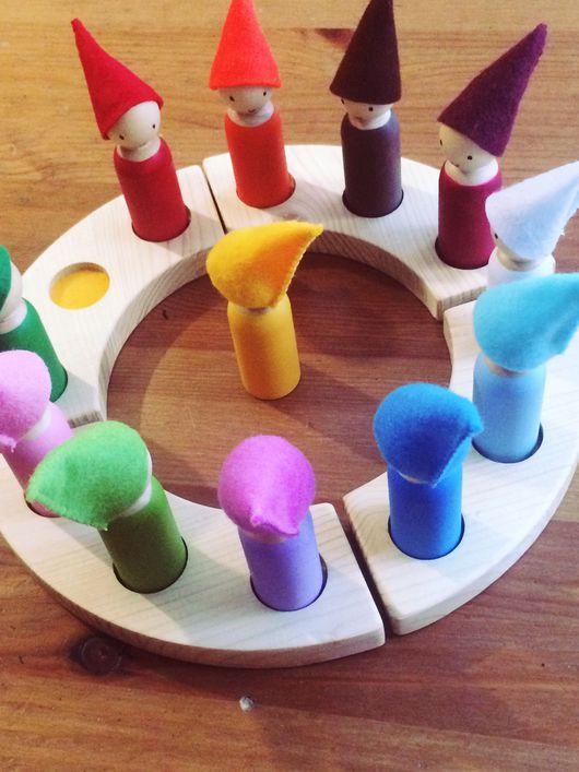 Вальдорфская игрушка ручной работы. Ярмарка Мастеров - ручная работа. Купить Гномы-календарь. Handmade. Вальдорфская игрушка, гномики, фетр