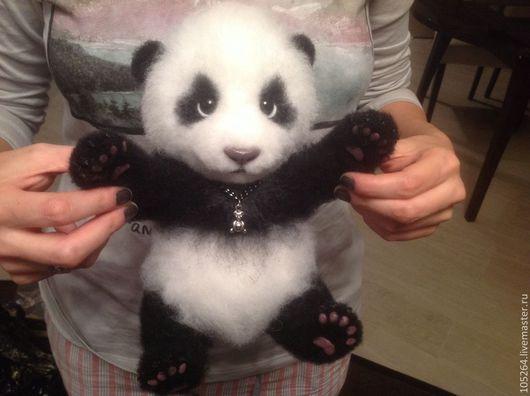 Игрушки животные, ручной работы. Ярмарка Мастеров - ручная работа. Купить Малыш панды Мей Лун. Handmade. Мишка