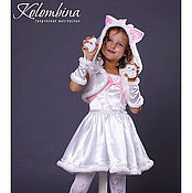 Работы для детей, ручной работы. Ярмарка Мастеров - ручная работа карнавальный костюм кошки белый-67. Handmade.