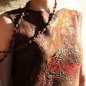 Одежда ручной работы. Ярмарка Мастеров - ручная работа Платье валяное Индийские специи. Handmade.