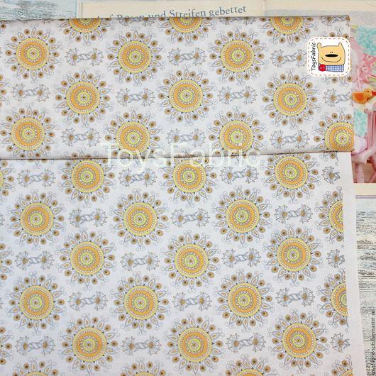 Шитье ручной работы. Ярмарка Мастеров - ручная работа. Купить Ткань для пэчворка Американский хлопок Солнечный (20541). Handmade.