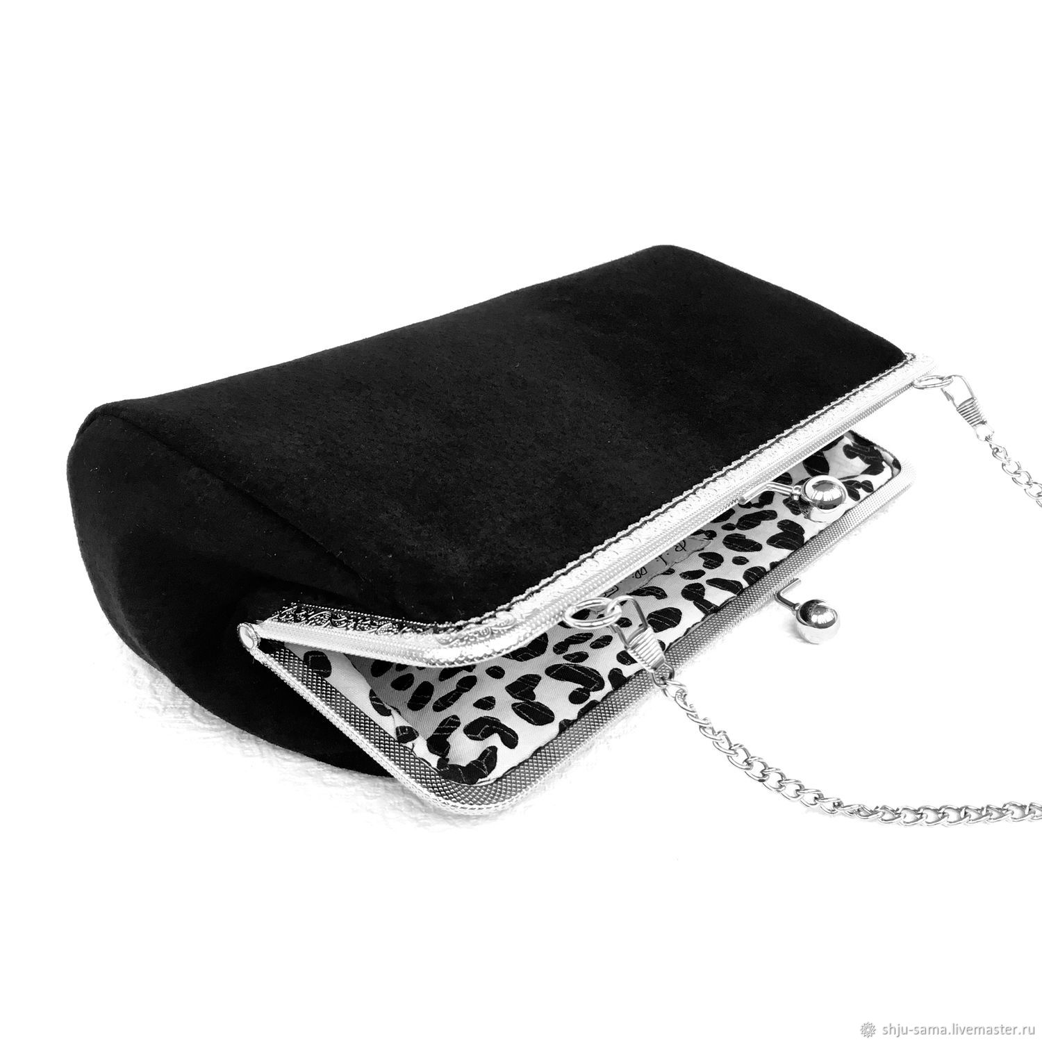 The clutch suedette Black conciseness on the clasp, Clutches, Moscow,  Фото №1