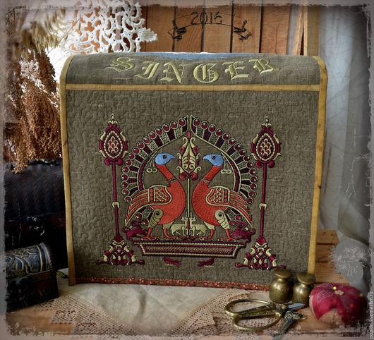 Текстиль, ковры ручной работы. Ярмарка Мастеров - ручная работа. Купить Чехол для оверлока Зингер. Handmade. Хаки, пэчворк