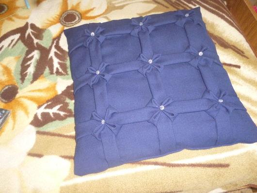 Текстиль, ковры ручной работы. Ярмарка Мастеров - ручная работа. Купить Декоративная подушка с буфами. Handmade. Подушка на диван