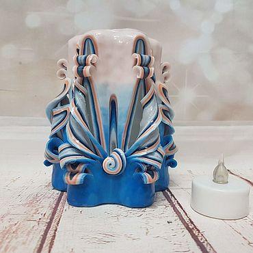 Для дома и интерьера ручной работы. Ярмарка Мастеров - ручная работа Свечи: Свеча-светильник. Handmade.
