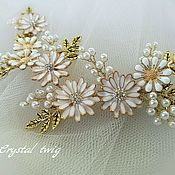 Свадебный салон handmade. Livemaster - original item The twig in the bride`s hairstyle. Handmade.