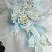 Свадебный салон handmade. Livemaster - original item brooches. Silk flowers. Rose
