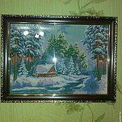 Картины и панно ручной работы. Ярмарка Мастеров - ручная работа Зимушка-зима. Handmade.