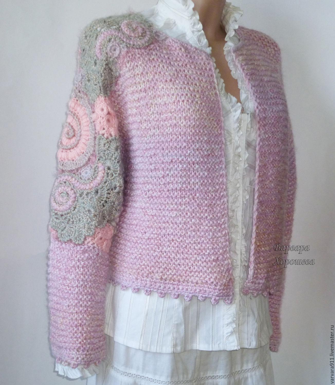 Вязаный кардиган в розово-сиреневых тонах, Кардиганы, Старый Оскол, Фото №1