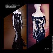 Одежда handmade. Livemaster - original item Black lace long dress Queen of spades. Handmade.
