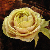 Украшения handmade. Livemaster - original item Silk flowers. Decoration brooch pin old ENGLISH ROSE.. Handmade.
