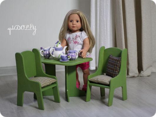 Кукольный дом ручной работы. Ярмарка Мастеров - ручная работа. Купить Летний  (макси) - набор деревянной кукольной мебели. Handmade.