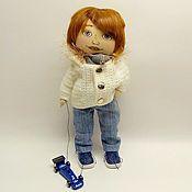 Куклы и пупсы ручной работы. Ярмарка Мастеров - ручная работа Мальчик с машинкой. Handmade.