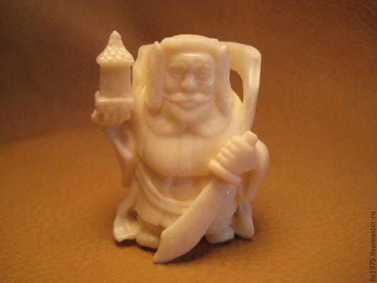 """Статуэтки ручной работы. Ярмарка Мастеров - ручная работа. Купить """"Бисямонтэн"""". Handmade. Белый, нэцке"""