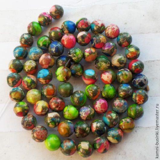 Яшма с пиритом 6-10 мм бусина шар 3 размера. Бусины яшмы для колье, яшма бусины для браслетов, яшма бусина шар для серег.