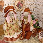 """Куклы и игрушки ручной работы. Ярмарка Мастеров - ручная работа Хранители дома """"Любовь без обид"""" (Зайцы Тильда). Handmade."""