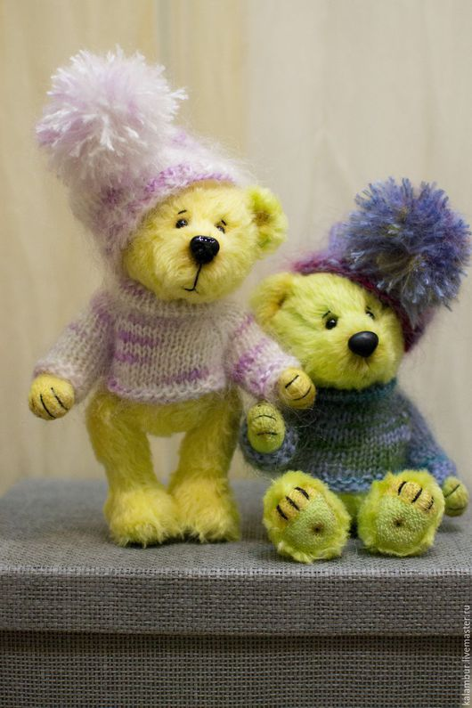 Мишки Тедди ручной работы. Ярмарка Мастеров - ручная работа. Купить Чук и Гек. Handmade. Желтый, подарок