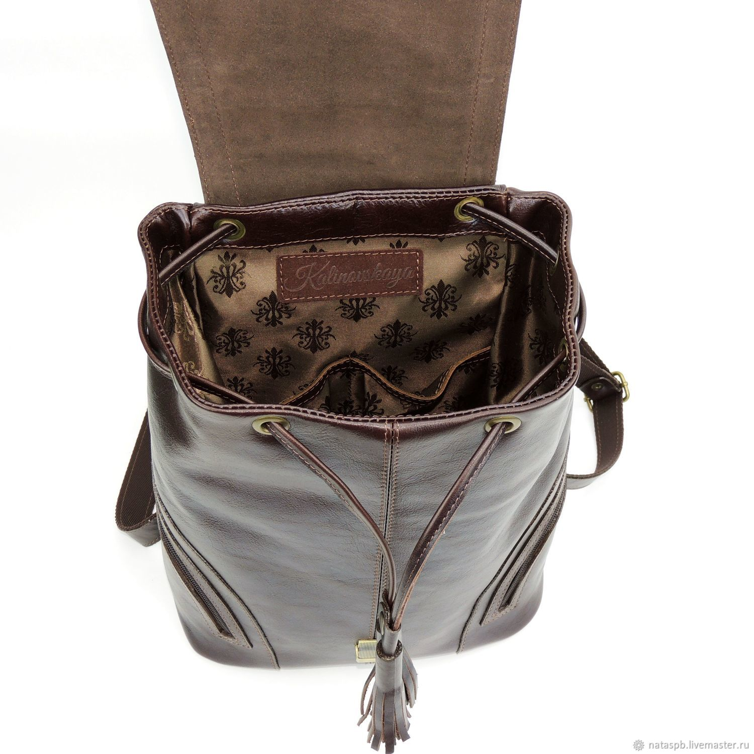 Backpack women's leather brown Beatrice – shop online on ...