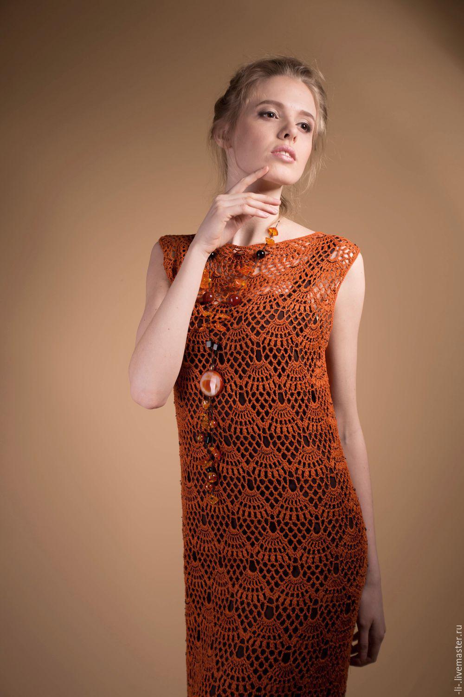 Купить платье из вязаного льна