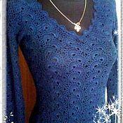 Одежда ручной работы. Ярмарка Мастеров - ручная работа Вязаное вечернее платье. Handmade.
