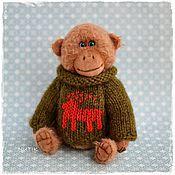 Куклы и игрушки ручной работы. Ярмарка Мастеров - ручная работа орангутанг Гарик обезьянка тедди. Handmade.