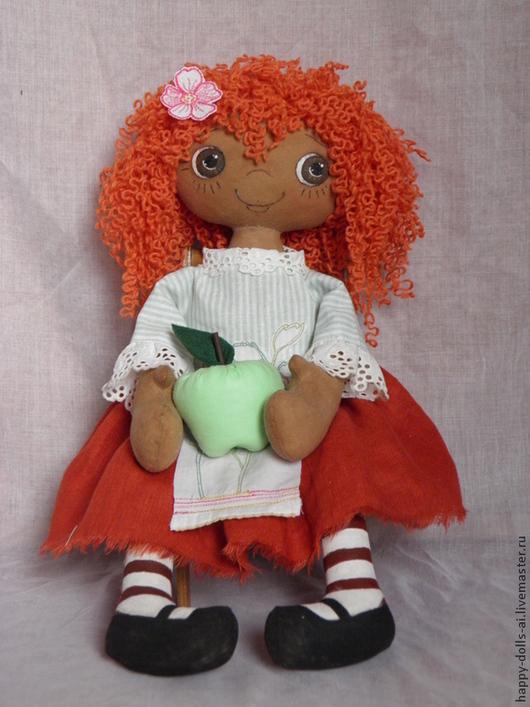 """Человечки ручной работы. Ярмарка Мастеров - ручная работа. Купить Джун """"Мое неспелое яблочко"""". Handmade. Рыжий, игровая кукла"""