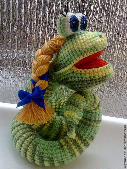 Игрушки животные, ручной работы. Ярмарка Мастеров - ручная работа. Купить Змейка Аленка. Handmade. Змея, символ 2013 года